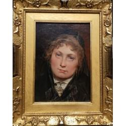 Domenico Induno, Ritratto di fanciulla, Emilia Trezzini