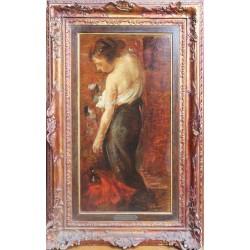 Alessandro Pomi -  figura e a retro paesaggio