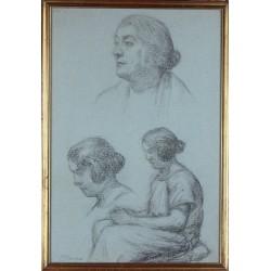 CAVALLERI VITTORIO, 1860-1938, Ritratto di uomo