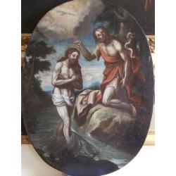 Maestro italiano del primo Seicento -  Battesimo di Cristo