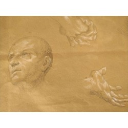 Giovanni Carnovali detto Il Piccio (1804 - 1873), Studio di teste e di mani