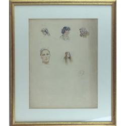 Fausto Zonaro -  Studio di visi