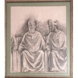 Rubaldo Merello -  Studio di affresco per la Chiesa di Sant'Agata Rapallo