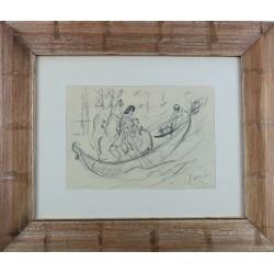 Giulio Romano Vercelli -  Paesaggio con pastorella