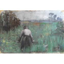 BELTRAME ACHILLE, 1871-1945, Ritratto di uomo
