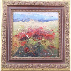 Antonio Fontanesi -  Paesaggio con alberi