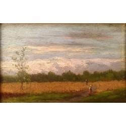 BERTOLLA CESARE, 1857-1920, Passeggiata